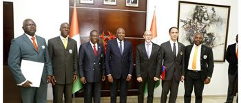 The World Taekwondo Inspection Mission Received by the Prime Minister of Côte d'Ivoire